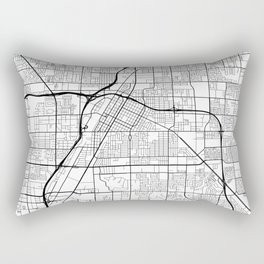 Las Vegas Map, USA - Black and White Rectangular Pillow