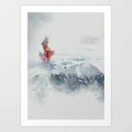 Beautiful Volcano Art Print