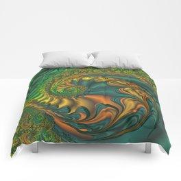 Dragon's Lair - Fractal Art Comforters