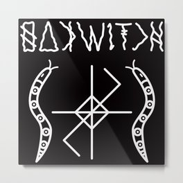 OAK WITCH BLACK SERPENT SIGIL Metal Print