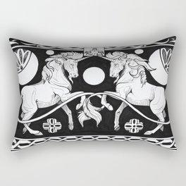 Celtic black unicron Rectangular Pillow
