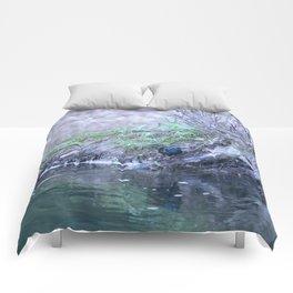 Black Bird At Water's Edge Comforters