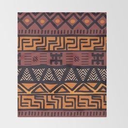 Tribal ethnic geometric pattern 021 Throw Blanket