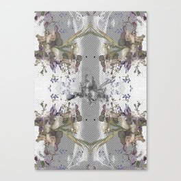 Halftone X-ray Floral Canvas Print