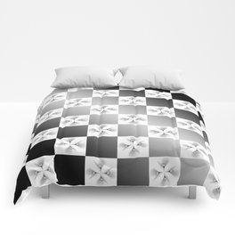 Pussy Checkerboard Abstract Comforters