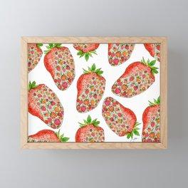 Strawberry Season Framed Mini Art Print