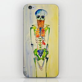 Hipster with a Beard and other Vital Organs iPhone Skin