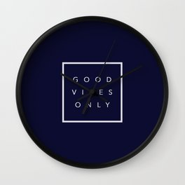 Good vibes only new shirt art vibe love cute hot 2018 style fashion sticker iphone cover case skin m Wall Clock