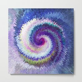 Abstract Exploding Twirl 825 Metal Print