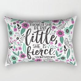 Little and Fierce Rectangular Pillow