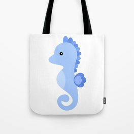 Seahorse cute vector illustration Tote Bag