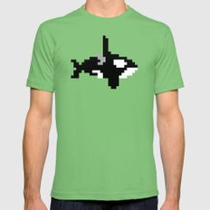 8-bit Orca Mens Fitted Tee Grass MEDIUM
