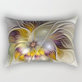 Abstract Fantasy Flower Fractal Art Rectangular Pillow