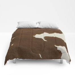 Dark Brown & White Cow Hide Comforters