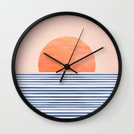 Summer Sunrise - Minimal Abstract Wall Clock
