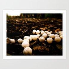 Forest Beads Art Print