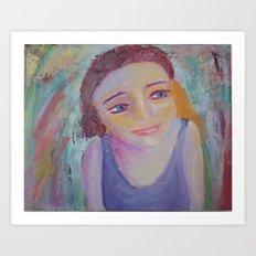 The Girl In The Kaliedoscope Art Print