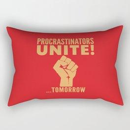 Procrastinators Unite Tomorrow (Red) Rectangular Pillow