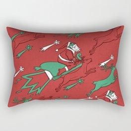 Santa Express Rectangular Pillow