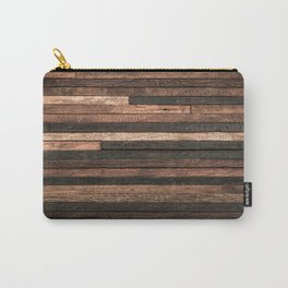 Vintage Wood Plank Carry-All Pouch