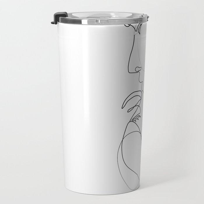 Lovers - Minimal Line Drawing Art Print 2 Travel Mug