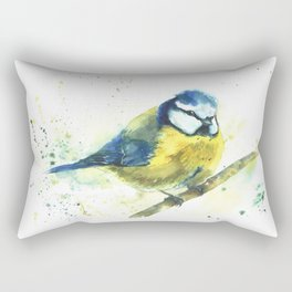 Watercolor titmouse bird Rectangular Pillow