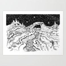 Martian Landscape Art Print