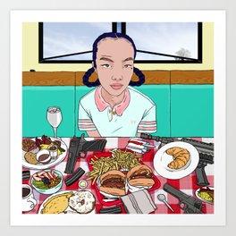 Power Breakfast Art Print