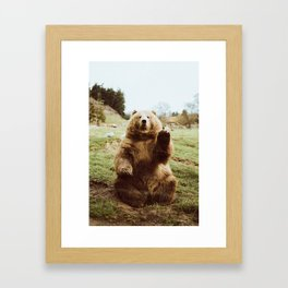 Hi Bear Gerahmter Kunstdruck