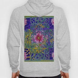 FAIRIES  PURPLE YELLOW CELTIC PINK FLORAL ART PATTERN Hoody