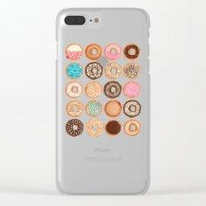Doughnuts Clear iPhone Case