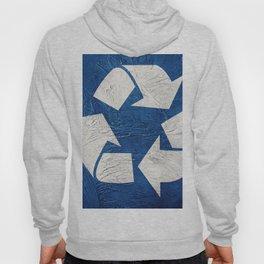 Recycle symbol on Grunge background. Vintage style. Hoody