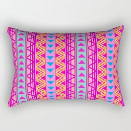 Triangle Kilim in Rainbow Neon Multi Rectangular Pillow