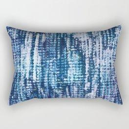 Indigo Surface Texture Rectangular Pillow