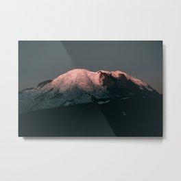 First Light on Mount Rainier Metal Print