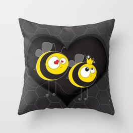love the worker bee Throw Pillow
