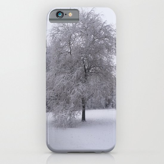 Tree and snow iPhone & iPod Case