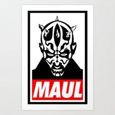 Obey Darth Maul (maul text version) - Star Wars Art Print