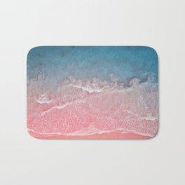 Bahamas pink blue Bath Mat