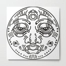 Graphic face Metal Print