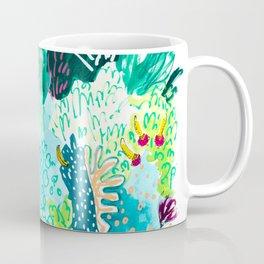 Twice Last Wednesday: Abstract Jungle Botanical Painting Coffee Mug