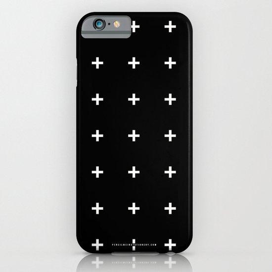 White Plus on Black /// www.pencilmeinstationery.com iPhone & iPod Case
