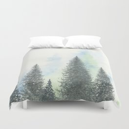 Charcoal Trees Four Duvet Cover