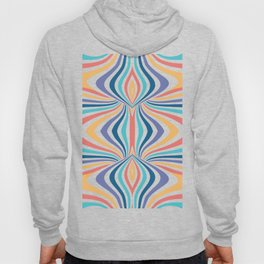 Marbled Rainbow // Abstract Psychedelic Flame Pattern Hoody