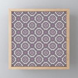 Flourishing Heart Abstract Seamless Pattern Framed Mini Art Print