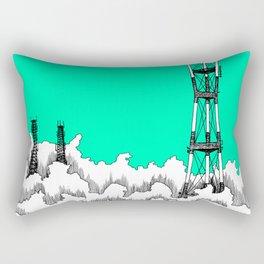 San Francisco - Sutro Tower (green sky) Rectangular Pillow