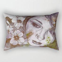 Cleopatra's Sling: Sunset (sweet eyes, flower girl portrait) Rectangular Pillow