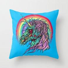 Zombie Unicorn Throw Pillow
