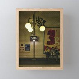 Metro. Paris, France Framed Mini Art Print