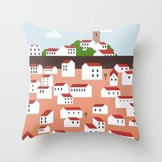 Green Istria Throw Pillow